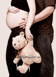 I like the idea of a teddy bear as a prop Infinity Photography & Design, Spokane maternity portrait photographer, Spokane maternity photography, maternity portraits, maternity photos, maternity pictures