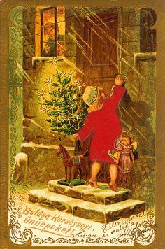 Christmas Postcard from Hungary 1896 dec 24 Veszprem by takacsi75, via Flickr