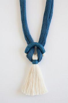 Gamma Folk Necklace No. 9 in Indigo