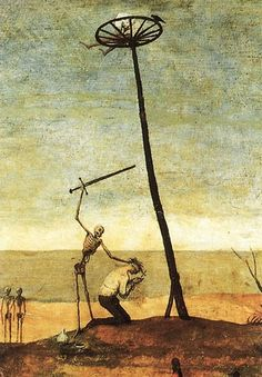 a detail from Triumph of Death by Peter Bruegel the Elder, circa 1562-1563