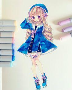 Manga Drawing Tips Yoai ┌( °з°)┘ ( Copic Drawings, Anime Drawings Sketches, Anime Sketch, Kawaii Drawings, Manga Drawing, Cute Drawings, Drawing Tips, Copic Marker Art, Copic Art