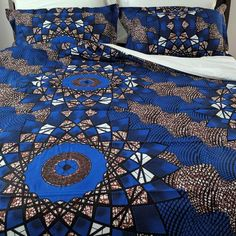Shop for African Print (Ankara) double-sided Duvet Cover Set. Set includes a duvet cover and 2 Shams. African Interior Design, African Design, African Bedroom, African Accessories, Ethnic Decor, African Home Decor, Bedroom Styles, Cool Rooms, Inspired Homes