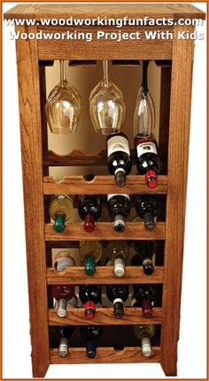 Simple Wall Wooden Wine Rack Design You Can Make Unique Wine Racks, Wood Wine Racks, Diy Wood Projects, Woodworking Projects, Woodworking Basics, Woodworking Forum, Youtube Woodworking, Woodworking Magazine, Woodworking Machinery