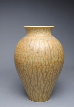 Clay VaseTaffy and Green Ash B4 by JohnMcCoyPottery on Etsy