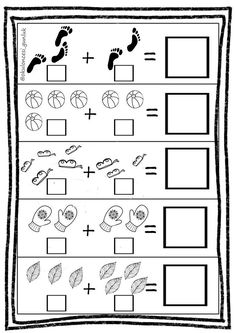 This is a simple addition worksheet with images. Kindergarten Addition Worksheets, Printable Preschool Worksheets, Preschool Math, Math Activities, Lkg Worksheets, Grande Section, Math Notebooks, First Grade Math, Math For Kids