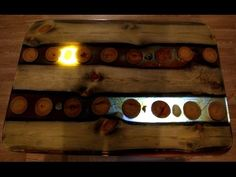 Stolik do kawy z żywicą epoksydową i drewna - YouTube