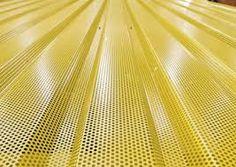 Resultado de imagen de metal perforated facade yellow