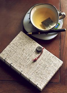 A hot cup of tea and writing in a journal... great way to spend an afternoon. :)