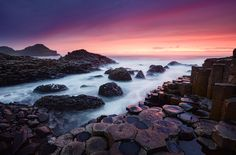 Causeway Dream by Michael  Breitung on 500px This was taken during a spectacular sunset at Giants Causeway