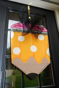 Classroom Door Hanger, Back to School Door Decor, Classroom Sign, Teacher Gift. $45.00, via Etsy.