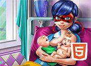 Ladybug Dotted Girl Twins Birth