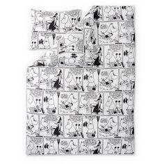 Comic Moominmamma duvet cover 150 x 210 cm by Finlayson