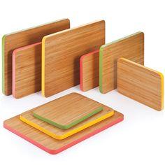 Colored edge bamboo cutting boards