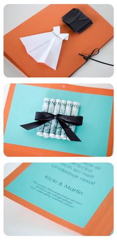 Origami surprise card - wedding money gift tutorial