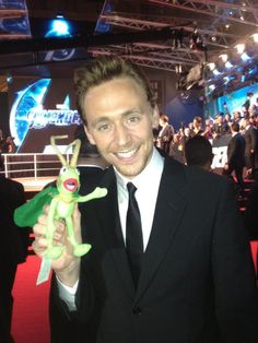 It's Kermit the Frog... dressed up as Loki.  It's ADORABLE.