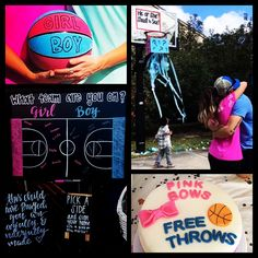 """reveal themes """"gender reveal ideas"""" [Fun Ideas for Baby Showers and Gender Reveal Parties] Basketball Gender Reveal, Gender Reveal Box, Gender Reveal Themes, Baby Gender Reveal Party, Gender Party, Unique Gender Reveal Ideas, Sports Pregnancy Announcement, Pregnancy Tips, Reveal Parties"""