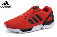 dfee33a20da13 Men s adidas Originals ZX Flux Shoes University Red Core Black