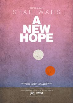 Minimal Movie Posters - Star Wars Episode IV: A New Hope by Paul Alp