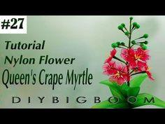 Nylon stocking flowers tutorial #27, How to make nylon stocking flower step by step - YouTube