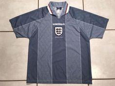 606867a28fd Rare Vintage UMBRO England National Team 1997 Away Jersey Men s XL | eBay