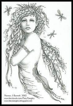 Fairy Tangles: Dragonfly Magic