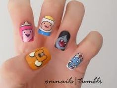 Adventure Time!!!!!!!!!Need to know how to doo theeseeeee. Now all I need to know is how to paint my nails regular show!!!!