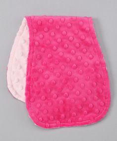 Look at this #zulilyfind! Pink & Fuchsia Minky Burp Cloth #zulilyfinds