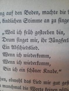 """from """"Knulp"""".  Akiko: from my blog. old German text. I have an OCR software to make it in Latin characters."""