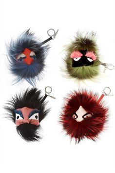 FENDI bag bugs...I want them all! Fendi Bag Bugs, Fendi Bags, Fendi Charm, Sleeping All Day, Key Rings, Purses And Handbags, Addiction, Hair Makeup, Fashion Accessories