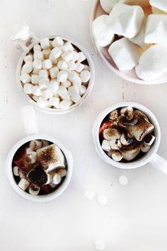 Marshmallow roasted hot chocolate