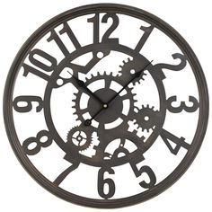 Horloge rouages en métal noir | Pinterest | Métal noir, Horloge et ...