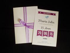 Convite Aniversário de 15 Anos Maju