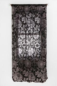 Nouveau Garden Velvet Burnout Curtain. $59.00 #curtains