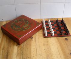 Hot 32 Pieces Chess A set of chess with wooden Coffee table fold in Toys & Hobbies, Games, Board & Traditional Games | eBay