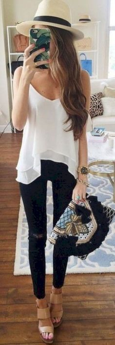 3335 cute summer outfits ideas for exciting summer best outfit summer Classy Summer Outfits, Fresh Outfits, Spring Outfits, Cool Outfits, Casual Outfits, Fashion Outfits, Womens Fashion, Outfit Summer, Dubai Fashion