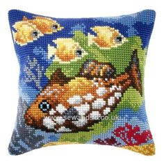 Buy+Tropical+Fish+Cushion+Front+Chunky+Cross+Stitch+Kit+Online+at+www.sewandso.co.uk