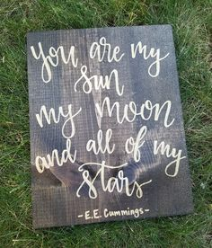 wood signs that will add rustic charm to your house decor 1 Painted Signs, Wooden Signs, Wooden Sign Quotes, Quotes For Signs, Sign Sayings, You Are My Moon, Diy Signs, Wood Crafts, Diy Wood