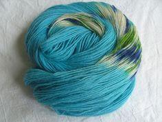 ♥ Sockenwolle 100g ♥ Schurwolle 75% ♥ Handgefärbt ♥ Made by Aleinung ♥ (092)