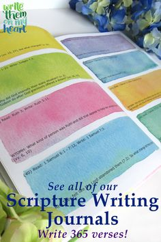 Scripture writing has a special way of writing God's Word on our hearts. And writing Scripture on our hearts changes us little by little to be more like Jesus. That's our goal! So, to help with that life-long daily goal, we offer the following 365 Scripture Writing Journals ... #ScriptureWriting #ScriptureWritingJournal Daily Scripture, Scripture Quotes, Christian Women, Christian Living, Writing Journals, Writing Plan, Bible Verse Wall Art, Inspiring Quotes About Life, Handwriting