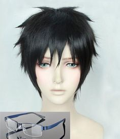 High Quality Short Straight Katsuki Yuuri Wig YURI!!! on ICE / Yuri On Ice Synthetic Hair Anime Cosplay Wig + Free Wig Cap