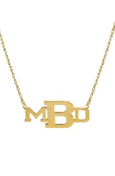 JANE BASCH DESIGNS Personalized Varsity Monogram Pendant Necklace available at #Nordstrom