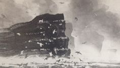 Norman Ackroyd RA's THE NOUP OF NOSS, SHETLAND at the RA Summer Exhibition 2015