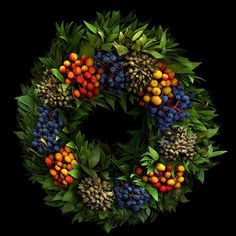 Dry fruits wreath