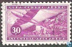 Stamps - Cuba [CUB] - Airmail 1954
