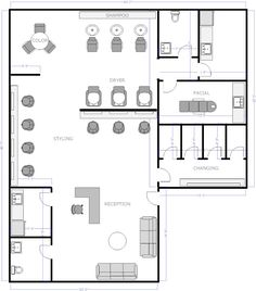 spa layout | ... Salon Floor Plans: Salon Floor Plans Day Spa ...