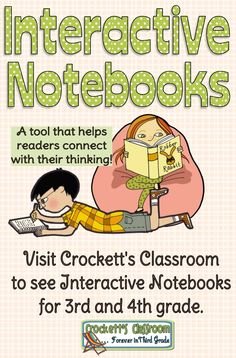 "Interactive Notebooks for 3rd and 4th grade.  One reviewer wrote: "" I LOVE this interactive notebook because it shows you how to set up the notebook in an organized way. It also provides the tools to set up the organization. Teacher and student friendly...no learning curve for either!"" --Crockett's Classroom"