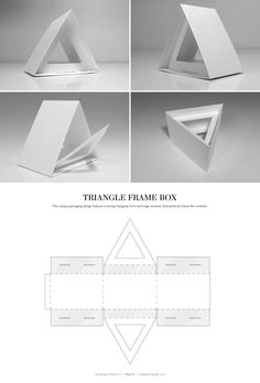 Triangle Frame Box – FREE resource for structural packaging design dielines