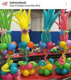 Resultado de imagen para festa trolls silvia roveri Candy Theme Birthday Party, Ninja Birthday Parties, Trolls Birthday Party, Birthday Party Centerpieces, Troll Party, Birthday Balloons, 2nd Birthday, Party Themes, Party Ideas