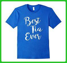 Mens Best Tia Ever Medium Royal Blue - Relatives and family shirts (*Amazon Partner-Link)