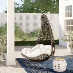 Mistana Anner Tear Drop Swing Chair with Stand Egg Swing Chair, Hanging Hammock Chair, Hammock Stand, Swinging Chair, Swing Chairs, High Chairs, Desk Chairs, Hanging Chairs, Ikea Chairs